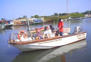 Angler's enjoying themselves aboard the 'African Angler'
