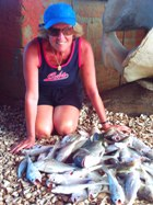 Karen with a variety of fish