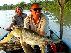 Mark Longster & Bill with Tigerfish