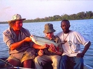 Mark Longster, Cpt. Bala Moses and Junior Angler