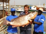 This Guinean Snapper was over 70lb